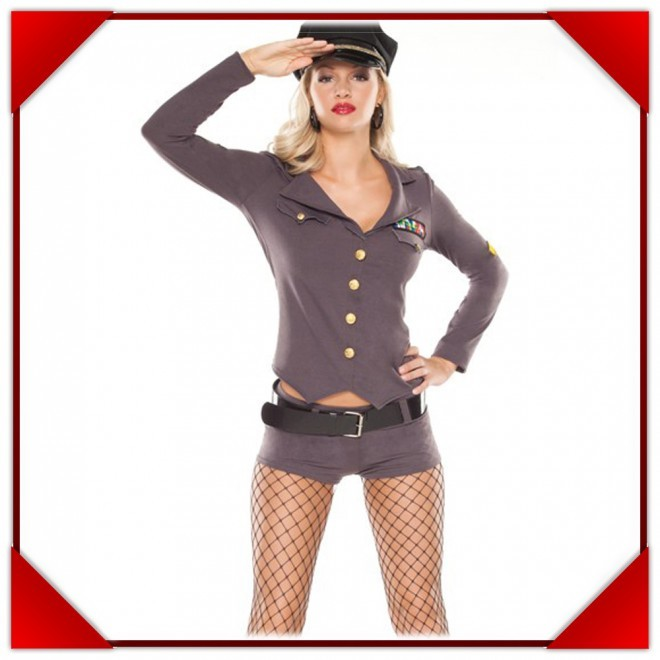 Military catsuit adult womens costume